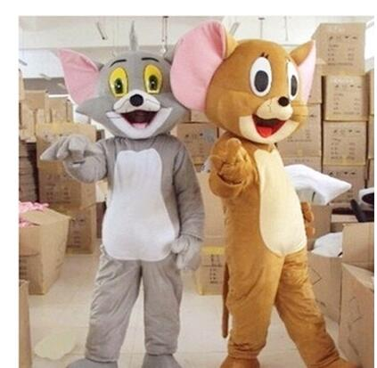 New Tom Cat and Jerry Mouse mascot costume, Tom and Jerry cartoon dolls performance clot ...
