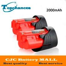 Шт. 2 шт. Новый Высокое качество 12 В в 2000 мАч литий-ионная Замена Мощность инструмент батарея для Milwaukee M12 C12 BX C12 B 48-11-2402 48-11-2401