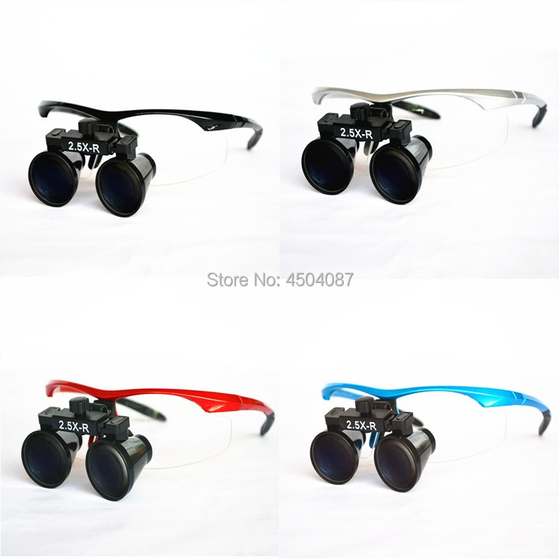 все цены на High Quality Plastic Frame Medical Loupes 2.5X Binocular Magnifier Medical Dental Surgical Loupes 4 Color Option онлайн