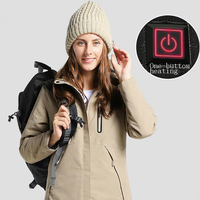Women's Winter Outdoor Intelligent USB Work Hooded Heating Jacket Coats Adjustable Temperature Control Safety Clothing DSY0011