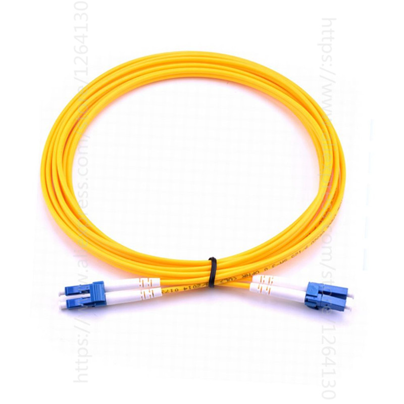 LC-LC Singlemode OS2 Fiber Optic Cable Patch Cord, Duplex 3m 106126 1300[fiber optic connectors lc dup adpt zr slv fiber mr li