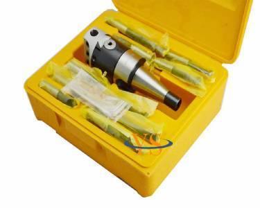 Nouveau DIN2080 NT40 M16 Arbor F1-12 50 MM tête de forage et 9 pcs barres d'alésage, tête de forage ensemble