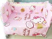 Promocja! 6 4szt zestaw pościeli dla szopka!!! łóżeczko dla dziecka łóżko, sprzedaż hurtowa i detaliczna dzieci cot zestawy (zderzaki + karta + pokrywy poduszek)