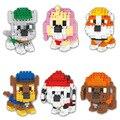 Perros lindos Animales Mini Modelo Montado DIY Juguetes Figuras de Acción Cartoon Anime Personajes Mejor Regalo Para La Educación Infantil 2 en 1
