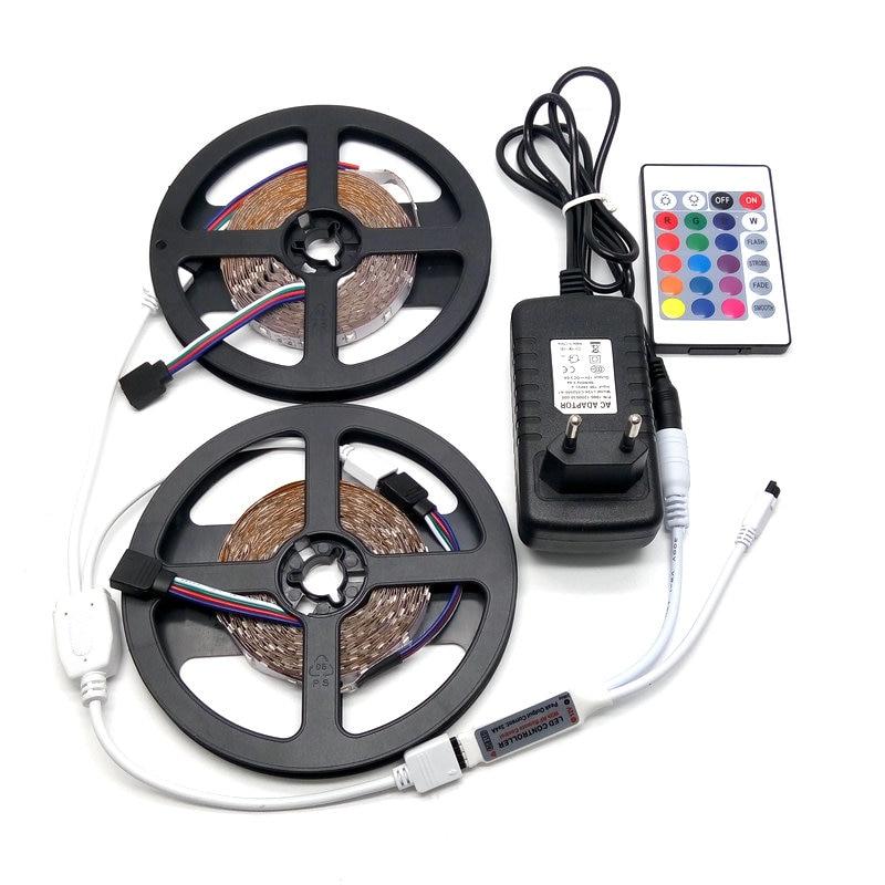 10M LED Strip Set SMD 3528 RGB 24Keys IR Controller арқылы 12V - LED Жарықтандыру - фото 2
