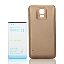 7000mAh Extended Spare Battery for Samsung S5 Phone Bateria +Gold Back Cover Case for Galaxy S5 i9600 Phone Replacement Batteria