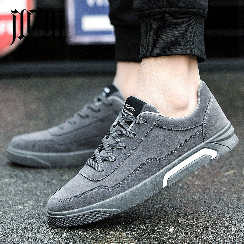 MumuEli   Suede   Red Gray Black New 2019 High Quality Shoes Men Casual Designer Fashion Luxury Flat Brand   Leather   Sneakers SH-A01