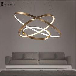 Modern LED Pendant Light For Living Room Dining room Luminaires Circle Rings LED Pendant <font><b>Lamp</b></font> Home Hanging Mount Ceiling <font><b>lamps</b></font>