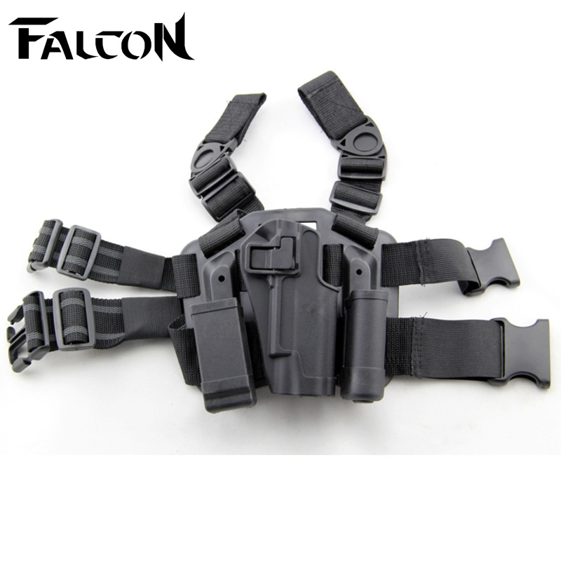 Military Holster For Colt 1911 FS CQC Coyote Black Tactical Leg Holster Gun Airsoft Pistol Belt Drop Holster