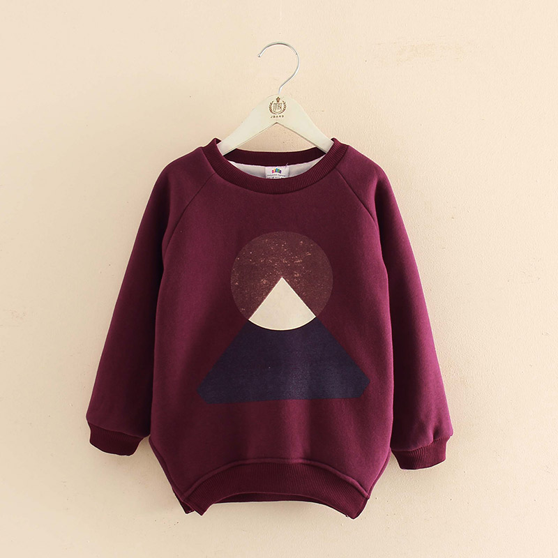 Girls T-shirt Children Clothes Kids Long Sleeve Sweatshirt Girls T Shirts 2017 Autumn Winter Clothing Baby Girls Tops Velvet Tee