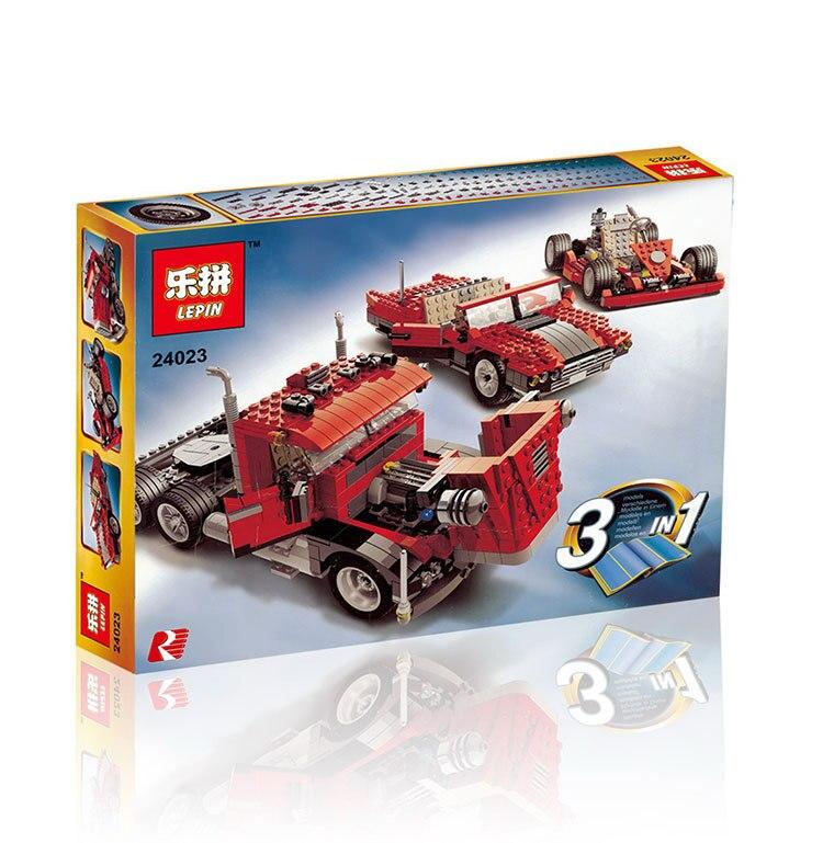 607 unids distorsionada Класико creativo Камион трактор Modelo де educacion bloques де construccion де ladrillos де Juguete 4955