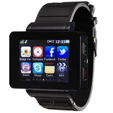 bluetooth sync smart watch i7 synchronise android,IOS phone pedometer,MP34,camera,compass,facebook,twitter free shipping unisex