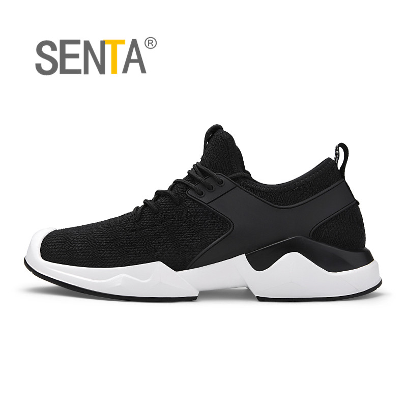 SENTA Running Shoes For Men 2018 Breathable Spring And Summer Sneakers Men Black Light Trainer Sport Shoes Free run Stability kelme 2016 new children sport running shoes football boots synthetic leather broken nail kids skid wearable shoes breathable 49