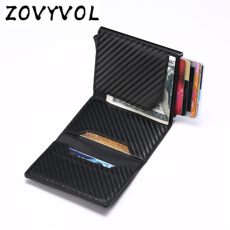 ZOVYVOL Smart Rfid Men Wallets Money Bag Male Vintage Black Short Purse 2019 Small Magic Thin Slim Wallets Mini Wallets Carteira