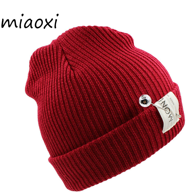 miaoxi 7 Colors New Fashion Women Hat Caps Warm Winter Snow Hats Casual Beanies Polyester Female Bonnet Skullies Gorro skullies beanies the new russian leather thick warm casual fashion female grass hat 93022