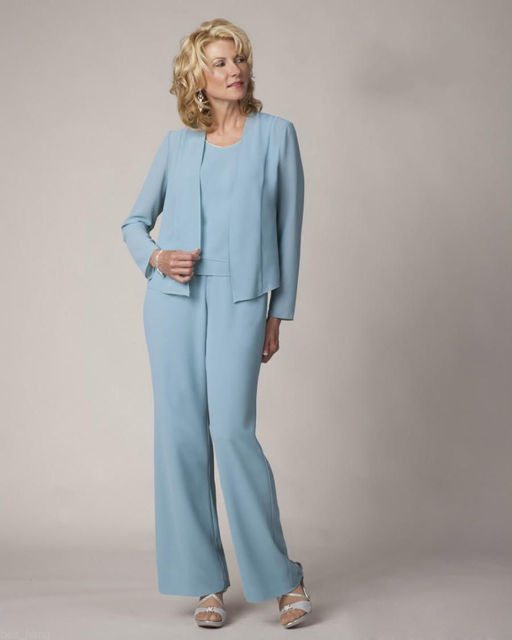 Plus Size Three Pieces Chiffon Mother of the Bride Pant Suits 2016 ...