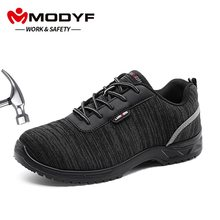 MODYF Mannen Composiet Veiligheid Teen Werkschoenen Lichtgewicht Ademend Anti-statische Binnenzool Reflecterende antislip Casual Sneaker(China)