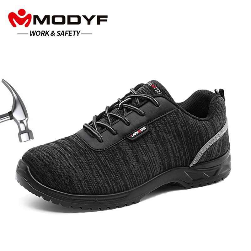 953f1142308 MODYF hombres zapatos de seguridad de Trabajo de Punta compuesta ligero  transpirable antiestático plantilla reflectante antideslizante