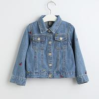 Jacket for girls 2019 spring boys and girls casual baby coat floral embroidery baby jacket long sleeve denim jacket for a boy