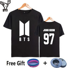 Camiseta BTS k-pop de algodón de manga corta para mujer Popular Bangtan Hip  Hop hombres mujeres camiseta Top Casual Kpop mujeres. e0eecc5ddc0