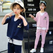 hot deal buy kids clothes 2019 cotton new girls clothing sets baby sleeveless vest+ hooded coat+ pants children's suit baby girl clothes