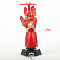 Avengers Endgame Superhero Infinity Gauntlet Thanos Glove Iron Man Gloves Action Figure Toy Resin Decoration Collection Model