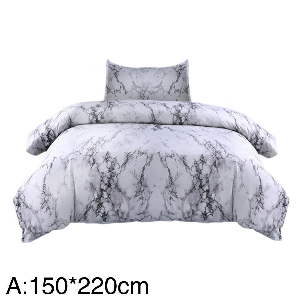 3 Pcs Bed Cover Eenvoudige Gemarmerd Afdrukken Dekbedovertrek Kussensloop 150*200 Cm Huidvriendelijke Polyester Stof Beddengoed High End Bedcloth Gematigde Kosten