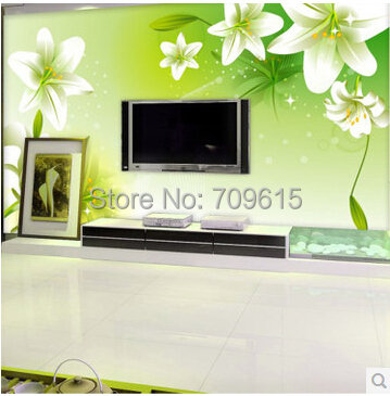 Mural Living Room Tv Wall Bedroom Wall Wallpaper 3d Non Woven Wall Painting  Beautiful Flower ... Part 85