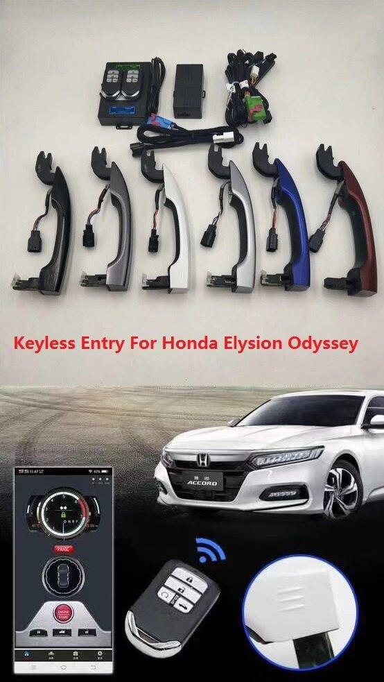 Système d'entrée sans clé de démarreur à distance Kit de verrouillage Central d'alarme de voiture PKE avec coffre de voiture ouvert pour Honda Elysion Odyssey