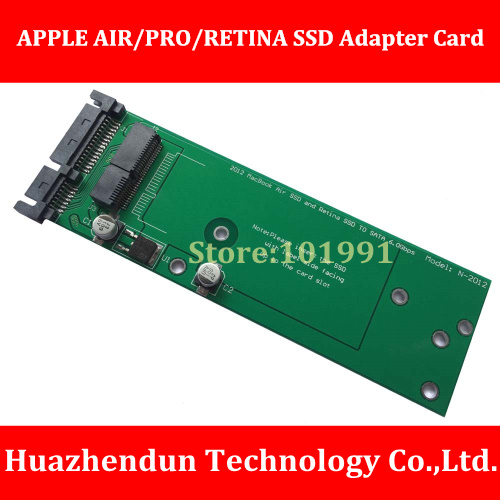 New Arrivals Solid State Hard Disk Transfer Card  for 2012 APPLE AIR/PRO/RETINA General Type  Free Bracket  SSD to SATA samsung 950 pro 256g m 2 ssd solid state hard disk nvme mz v5p256bw