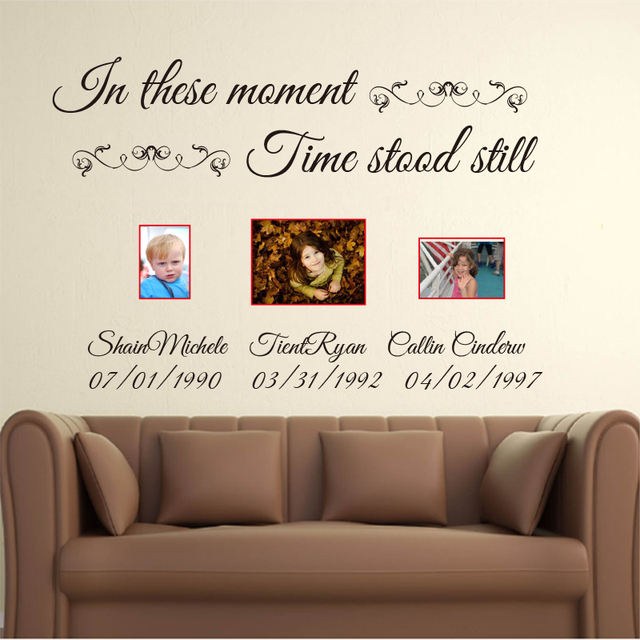 Aliexpresscom  Buy In These Moments Time Stood Still Custom Name - Custom cut vinyl wall decals