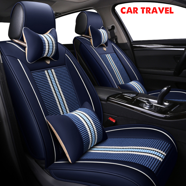 CAR TRAVEL Ice Silk Car Seat Covers Set For Acura All