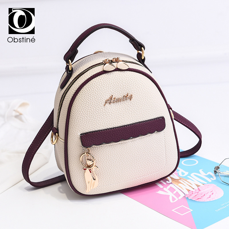 Mini Backpack For Women 2019 Pu Leather Small Backapcks For Girls Fashion Designer Back Pack Purse Ladies White Bagpack Bags