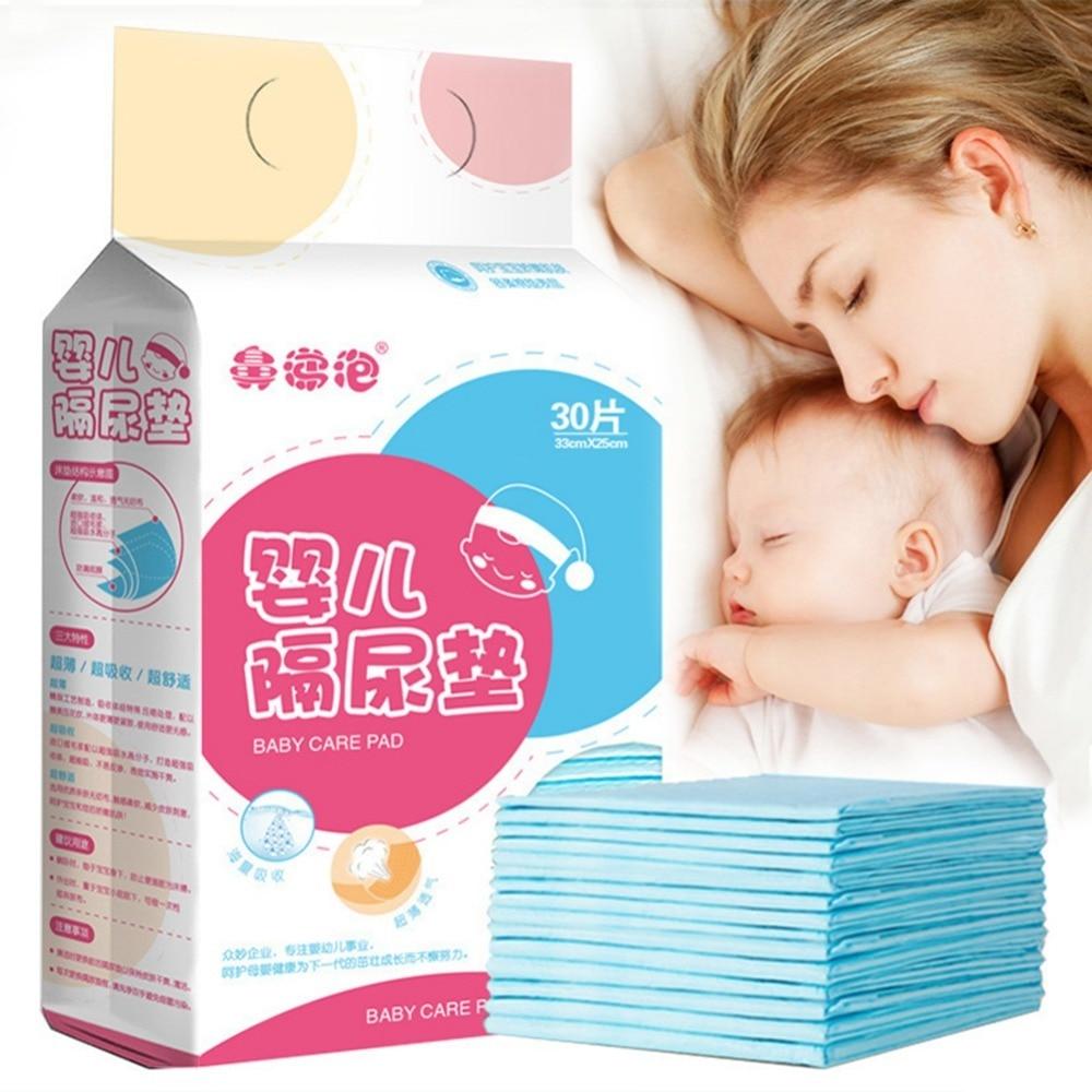 30 pièces nouveau-né bébé imperméable respirant jetable couche soin Incontinence protecteur pour adulte enfant absorbant imperméable (lot de 30)