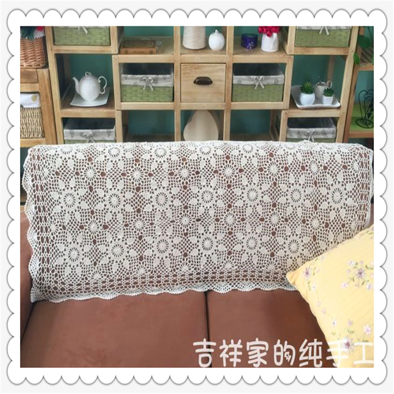 Swell Us 23 25 2016 New Arrival European Fashion 100 Natural Cotton Crochet Sofa Cover As Back Rest Towel For Home Decoration With Flowers In Sofa Cover Creativecarmelina Interior Chair Design Creativecarmelinacom