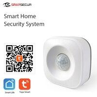 Беспроводной инфракрасный датчик движения системы Безопасности Инфракрасный умный ВКЛ/ВЫКЛ Свет работает с Alexa и WiFi смарт-переключатель