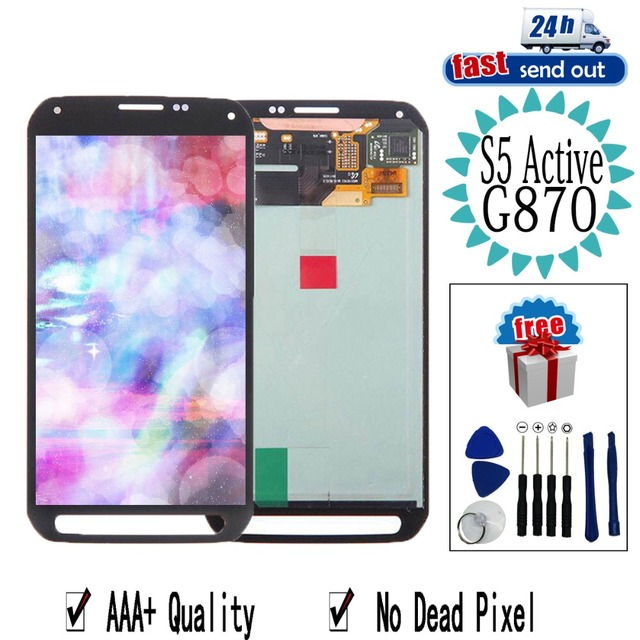 AMOLED G870 LCD For SAMSUNG Galaxy S5 Active LCD Display Touch Screen Tested Digitizer Assembly