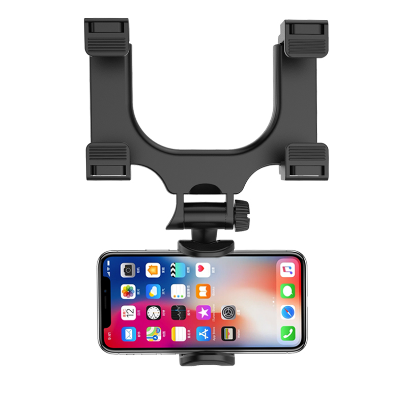 XMXCZKJ Rearview Mirror Car Phone Holder For IPhone X 9 8 7 7 6 Plus Universal Car Mount Stand Adjustable Mobile Phone Holder