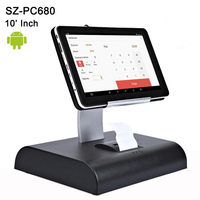10 дюймов сенсорный экран Android планшетный ПК кассовый аппарат POS система с программным обеспечением планшет POS Встроенный принтер Поддержка