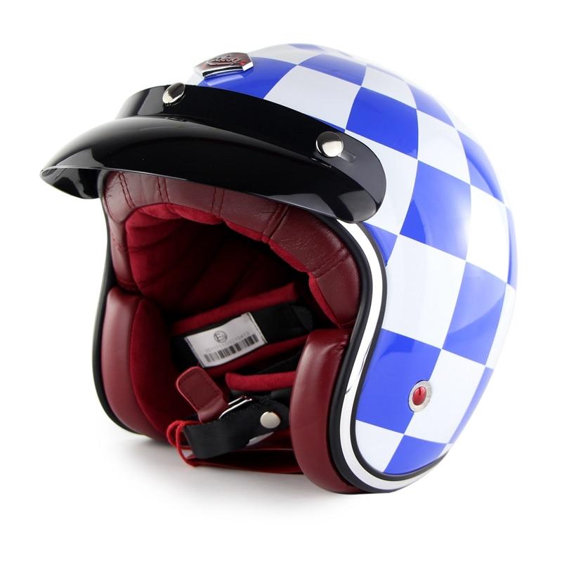 Ruby Pavilion Vintage Rétro Casque Moto Harley Casque Moto Capacetes Open Face Casco