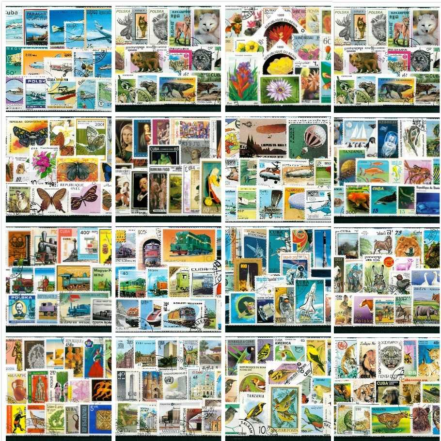 50Pcs/Lot Hot 17 Topic Stamps Collection All Different Many Countries NO Repeat Unused Marked Postage Stamps for Collecting