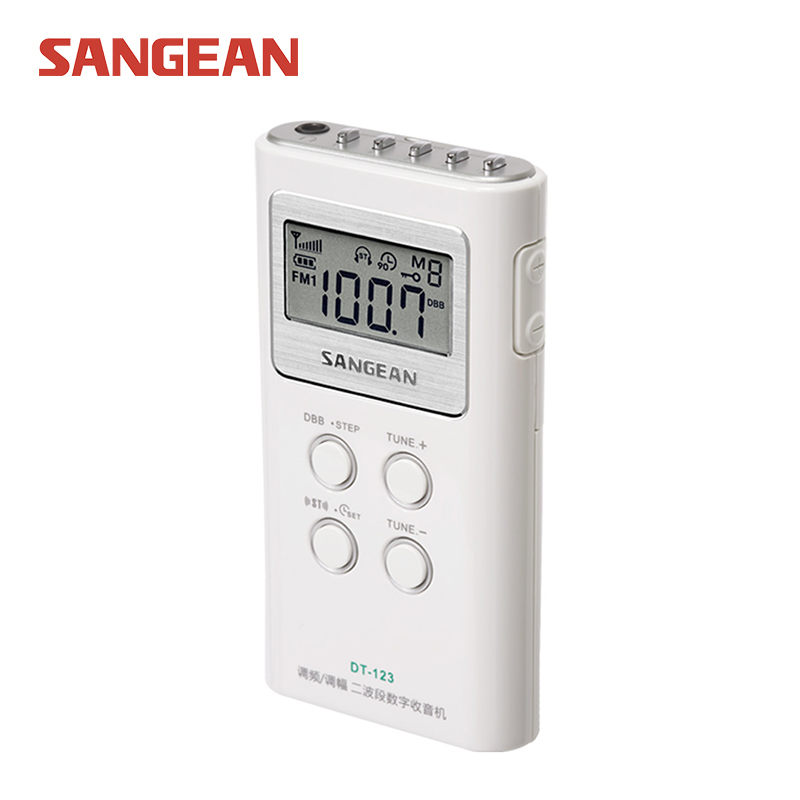 SANGEAN DT-123 mini radio portable band radio am fm speaker free shipping все цены