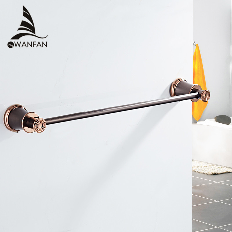 Towel Bars European Style Hanger ORB Solid Brass Towel Rail Single Towel Bar Bathroom Towel Holder For Bathroom Accessories 6301 new arrivals european design towel ring brass bathroom towel holder towel bar bathroom accessories