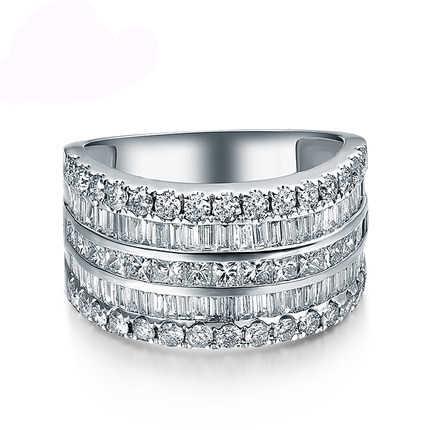 หญิงหรูหราขนาดเล็ก Zircon แหวนเงิน 925 เครื่องประดับงานแต่งงานแหวนหมั้นสำหรับสุภาพสตรี 2019 ของขวัญวันวาเลนไทน์