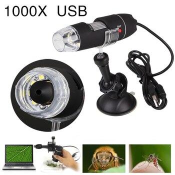 Портативный usb-микроскоп свет электрический ручной микроскоп всасывания инструмент