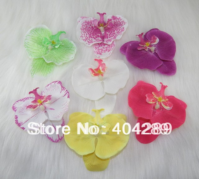 84pcs 3.5'' NEW Orchid Flower Hair Clips/decorate Hair wear/artificial Bridal Wedding Hair Accessories/7color for choose