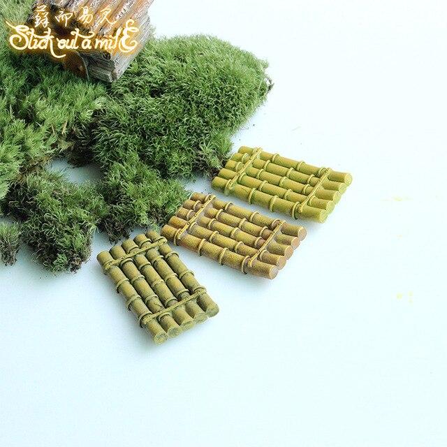Résine Jardin Miniature Figurines Mini Radeau de Bambou Bonsaï ...