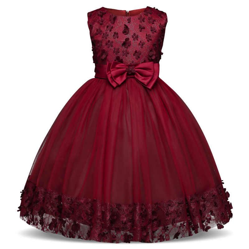 Vestido De Flores Para Niñas Para Boda Ropa De Niños Fiesta
