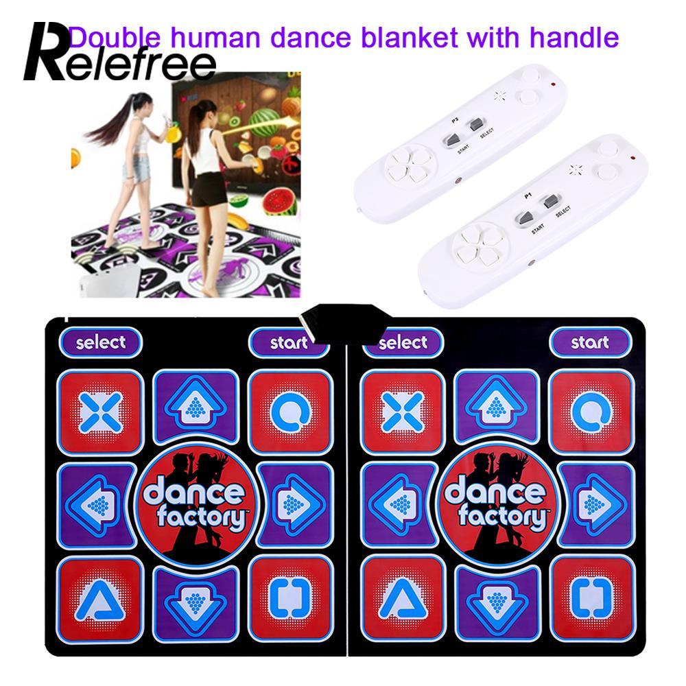 Relefree dupla dança humana cobertor almofadas computador tv emagrecimento dançarino cobertor almofada com dois alça