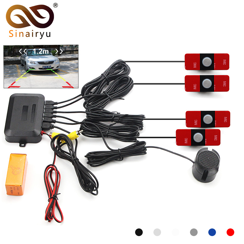 Car Video Parking Sensor Reverse Backup Radar Assistance Original 16mm Flat Sensors According To The Distance Support Car Camera цены
